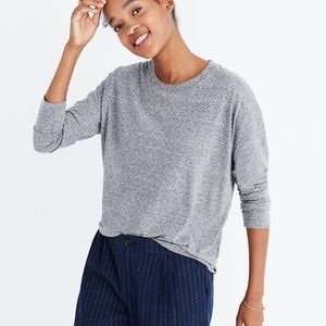 Madewell ex-boyfriend long sleeve tee shirt gray